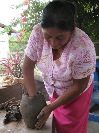 Making pottery in Honduras