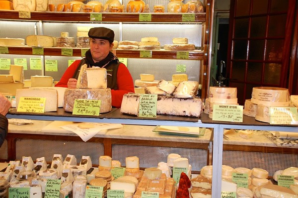 Cheese shop in Paris, France