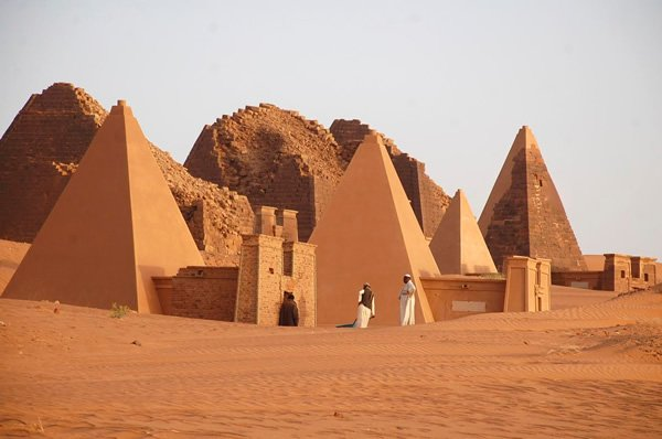 Nubian pyramids in North Sudan