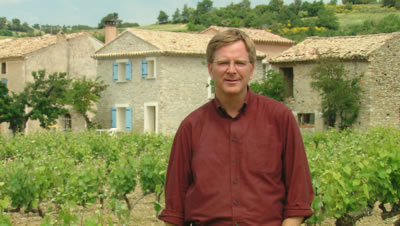 Rick Steves at a Winery in the Cotes du Rhone