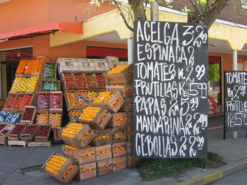 Fruit stand in Argentina