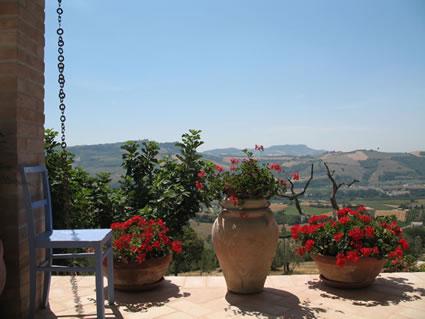 View from Vento di Rose, Monterubbiano, The Marches, Italy