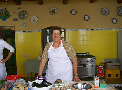 Cooking class at an agriturismo in Southern Italy.