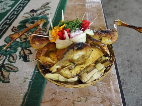Chicken offering to the Gods in Bali