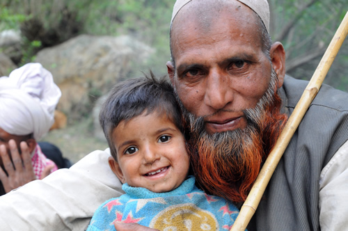 Gujjar man with child