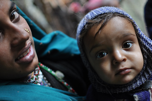 Gujjar tribe mother and child