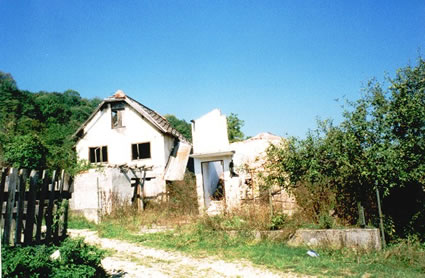 Bosnia dilapidated house
