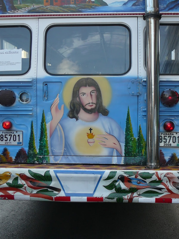 Emergency door Jesus on a diablo rojo