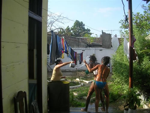 Waterfight in Cuba