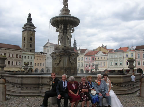 After the marriage ceremony in South Bohemia