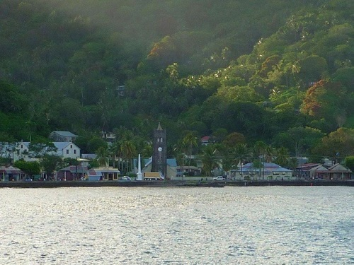 Levuka seen from the sea