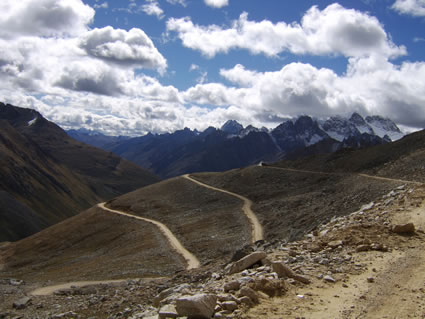 Road from Ganzi China to Litang Tibet