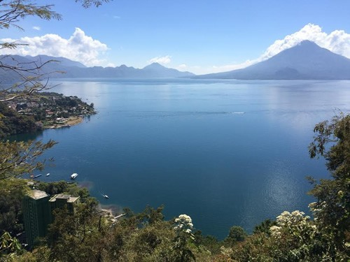 Lake Atitlán with Volcano Toliman