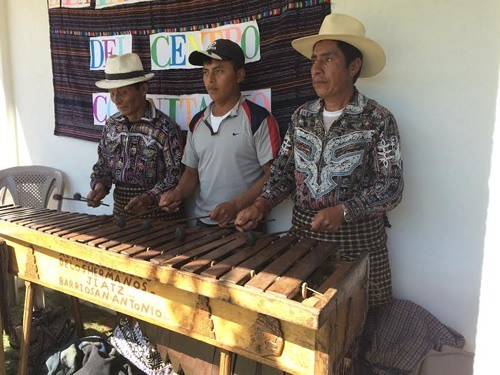 Mayan men playing the Marimba