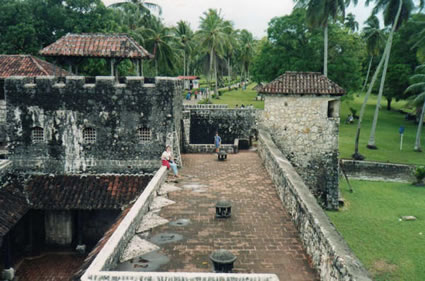Spanish fort in Guatemala.