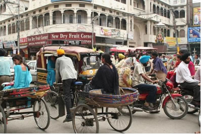 Rickshaws in India