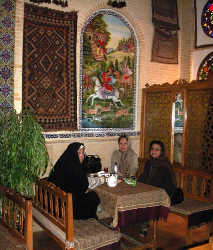 A teahouse in Shiraz