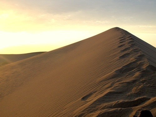 Sand dune near the Silk Road stop of Dunhuang, China