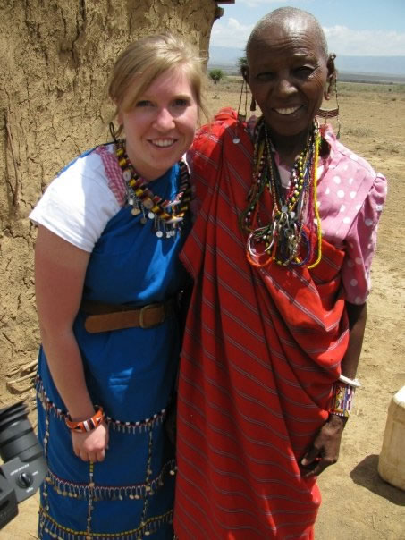 Author with woman in Kenya