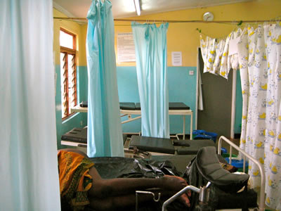 Maternity ward in Malawi hospital where babies are born