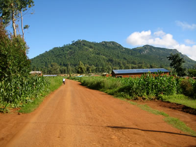 Walk to hospital in Malawi