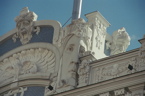 Art Nouveau architecture detail