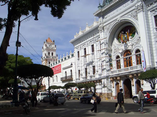 Square in Sucre, Bolivia