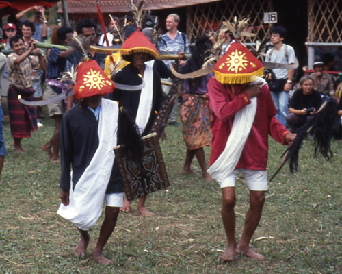 Funeral Dancers in Tana Toraja, Indonesia