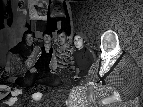 Turkish nomadic family in their tent