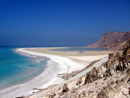 Qalansiya beach on Socotra island