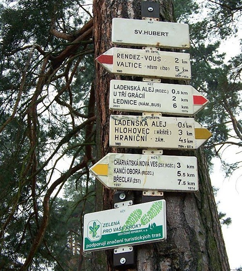 Biking signs in Eastern Europe