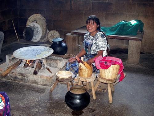 Cooking tortillas in Chiapas, Mexico