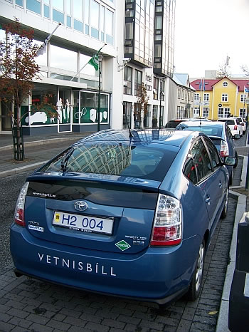 A hydogen-powered Prius in Iceland