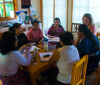 An afternoon meeting at Maya Traditions, Panajachel