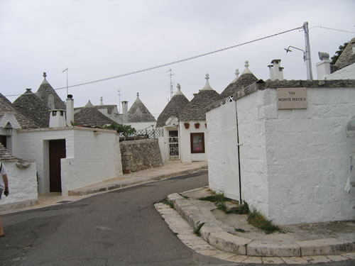 Cone-shaped roofs of Alberobello