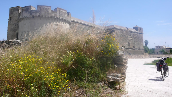 Castle at Acaya in Puglia