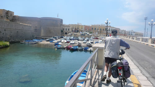 Island of Gallipoli with bike
