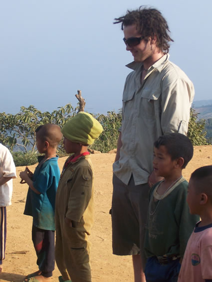 Hilltribe children with brother