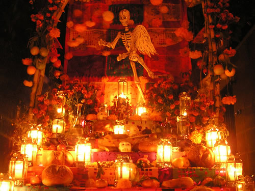 Oaxaca City - Day of the Dead altar made by Boris Spide