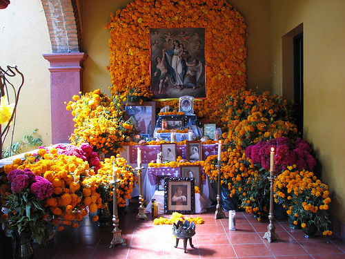 Altar at Oaxaca Day of Dead