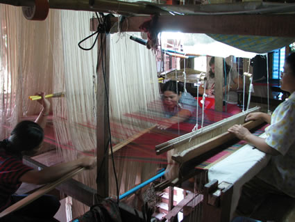 Silk Weaving Looms