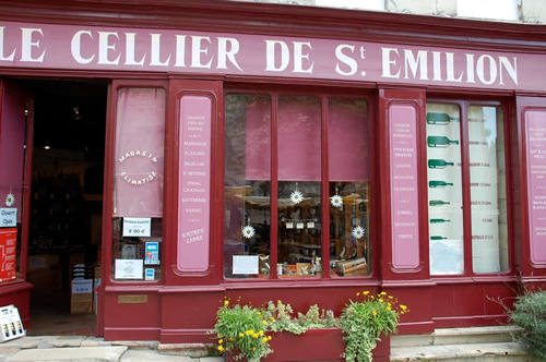 A wine store in Bordeaux