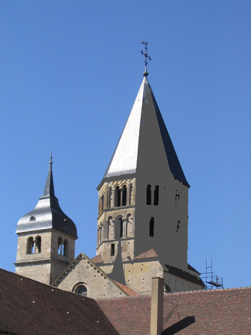 Abbey of Cluny in Burgundy
