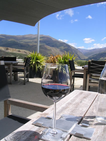 Glass of New Zealand wine.