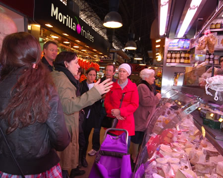 Shopping with a cooking class at the markets in Barcelona. Photo courtesy of Transitions Abroad