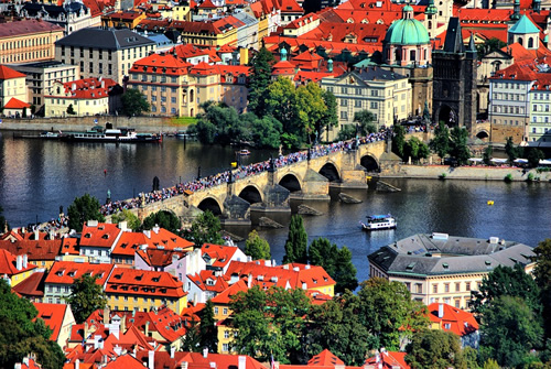 Beautiful gothic Prague in the springtime.