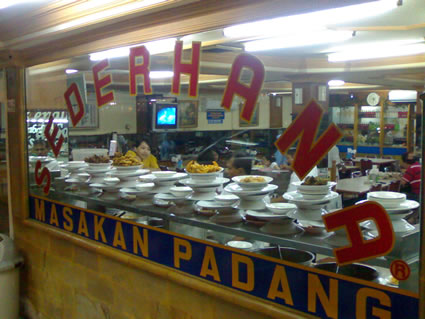 Padang Restaurant in Indonesia