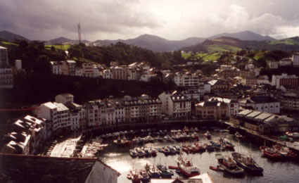 Luarca's fishing harbor
