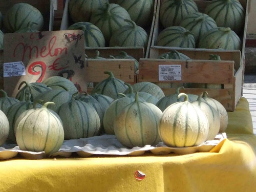 Melons in Uzes, France