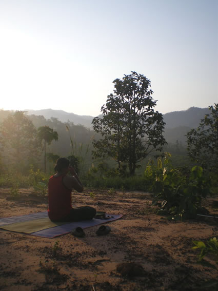 An inspirational setting for sunrise yoga.
